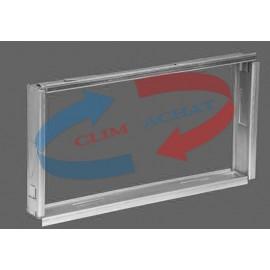 Contre-cadre métallique de L400xH150 Prof. 35 mm