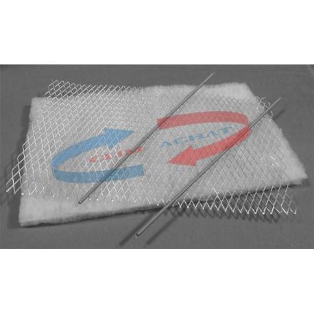 Filtre universel avec porte-filtre L400xH100