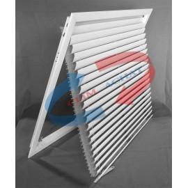 Grille de reprise pour plafond modulaire avec porte-filtre basculant L593xH593