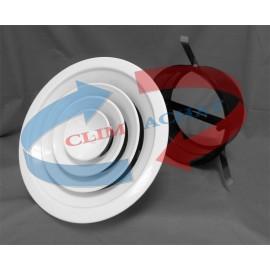 Diffuseur circulaire avec registre papillon et col d'adaptation 200