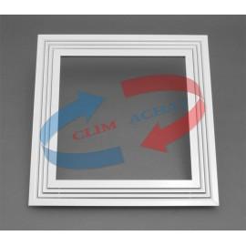 Diffuseur linéaire blanc 1 fente pour plafond modulaire L595xH595