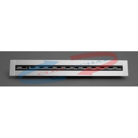 Diffuseur linéaire 2 fentes à ailettes directionnelles avec registre L.1000